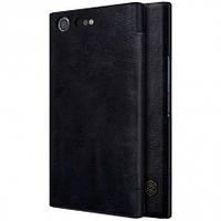 Кожаный чехол-книжка Nillkin Qin для Sony Xperia XZ Premium (Черный)