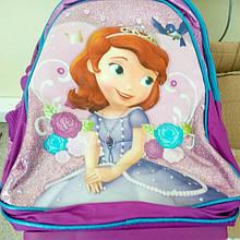 Набір валіза-рюкзак на колесах +пенал+сумка Принцеса Софія