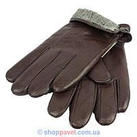 Мужские кожаные перчатки Batulu 0200 в коричневом цвете