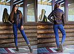 Женская стильная куртка из эко-кожи / куртка-косуха (5 цветов), фото 7