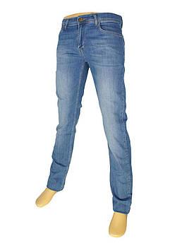 Голубые мужские джинсы Cen-cor CNC-1458 с потертостями