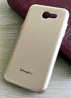 Золотистый TPU чехол-накладка IPAKY для Samsung Galaxy J3 2017 J327