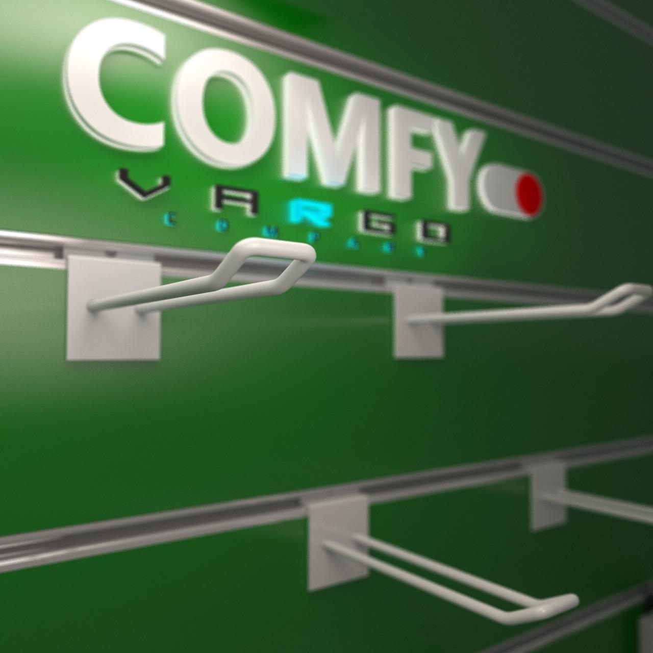 Крючки для экономпанелей | белые 300 мм