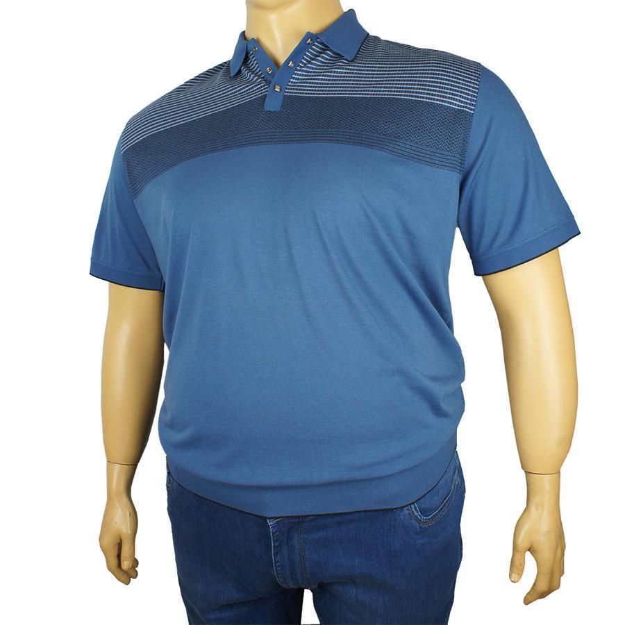 Мужская тенниска Tony Montana J-1132 синяя