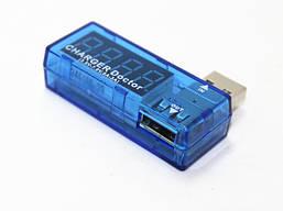 USB tester CHARGE Doctor 2in1 LED blue, загнутый