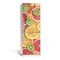 Наклейка на холодильник Цитрус ( (виниловая наклейка, самоклейка, оклеить холодильник, декор кухни)