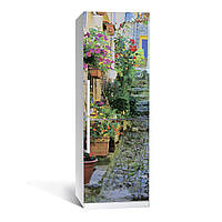 Наклейка на холодильник Прованс ( (виниловая наклейка, самоклейка, оклеить холодильник, декор кухни)