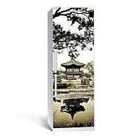 Наклейка на холодильник Умиротворение (виниловая наклейка, самоклейка, оклеить холодильник, декор)
