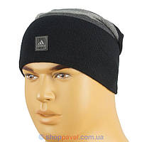Вязаная мужская шапка Adidas 099 в разных цветах