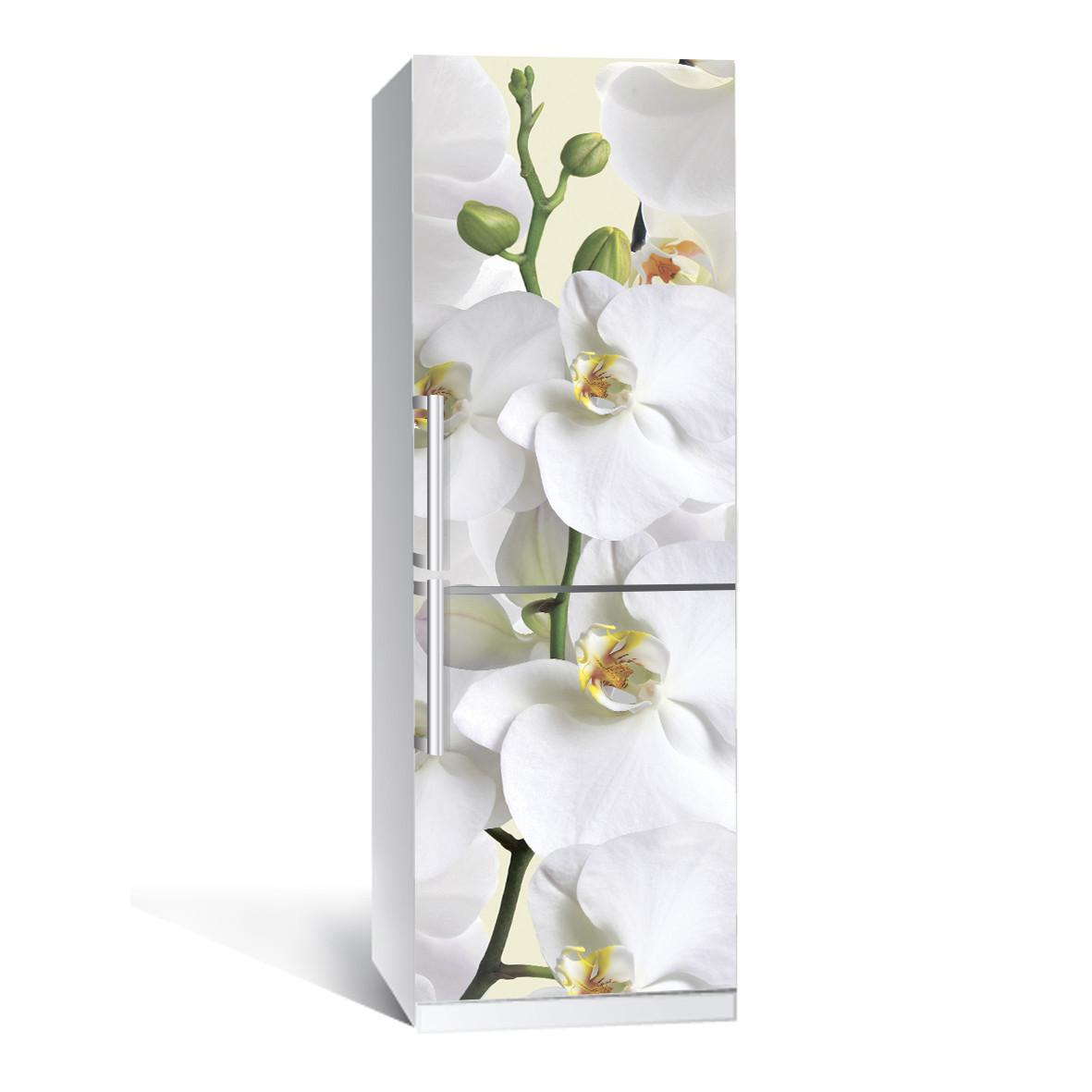 Наклейка на холодильник Zatarga Орхидея 650х2000 мм виниловая 3Д наклейка декор на кухню самоклеящаяся