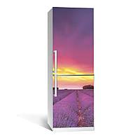 Наклейка на холодильник Zatarga Лаванда 01(декор), РАСПРОДАЖА в связи с неточностью печати виниловая 3Д