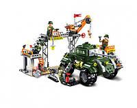 Конструктор BRICK 1712 Военная база 396 дет.