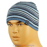 Мужская вязаная шапка Agbo 078 на флисе