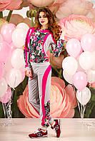 Женскийспортивный костюм модный с цветами