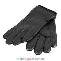 Мужские кожаные перчатки Elma 0360 в черном цвете