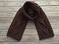 Мужской вязаный длинный шарф ручная Работа