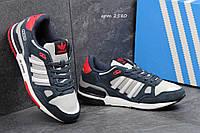 Кроссовки Adidas Zx 750 темно синие с серым 2580