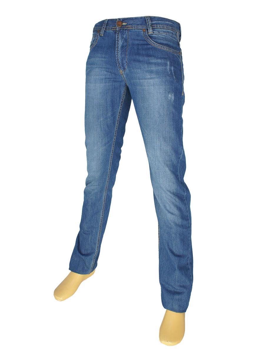 Стильные мужские джинсы Cen-cor CNC-1316 синего цвета