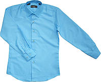 Рубашка школьная на мальчика голубая ТМ Lagard Kids размер 146 152 158