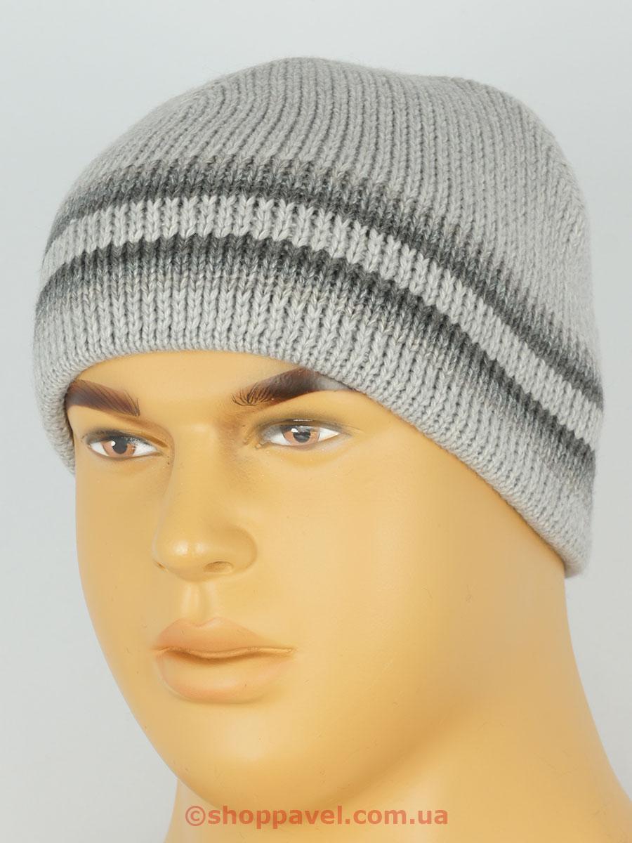Серая мужская шапка Maxval SHM 132114