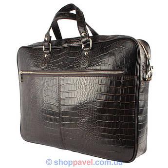 Сумка - портфель для ноутбука Canpellini 7006 коричневая