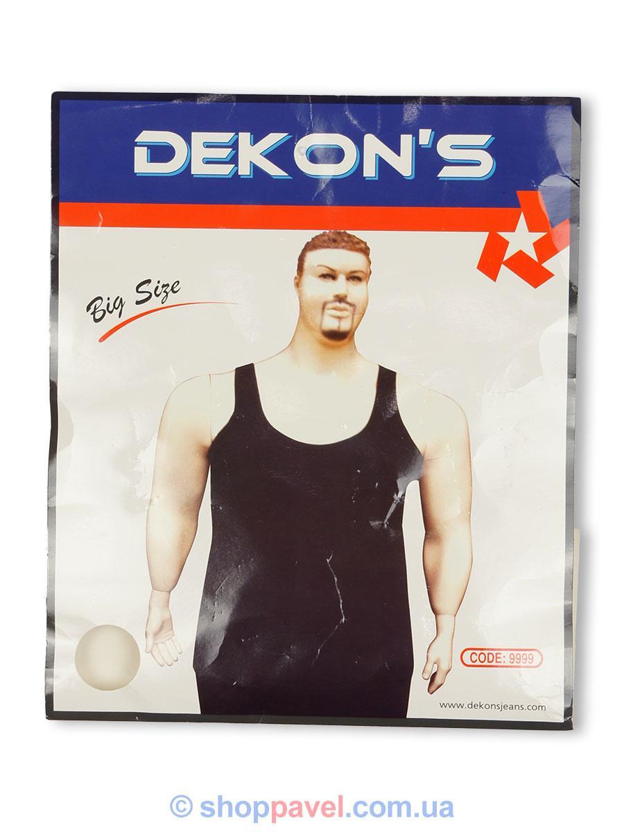Черная мужская майка Dekons 9999B большого размера