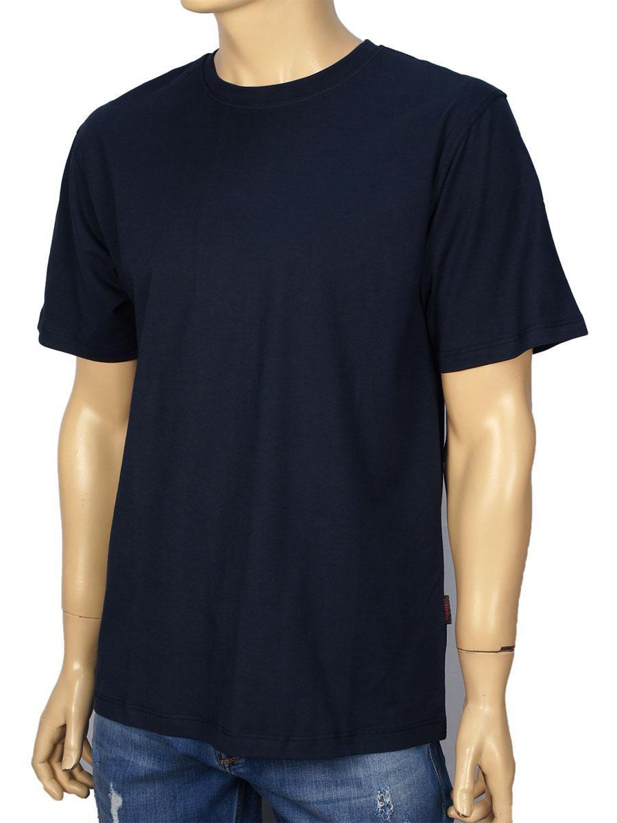 Футболка мужская Laperon PRN-4010  т.син 100% хлопок