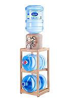 Подставка деревянная на 2 бутыля светлая