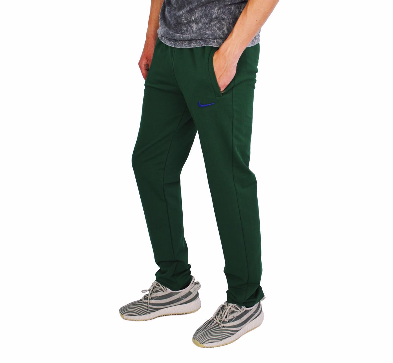 cbf215b3 Зеленые мужские спортивные трикотажные штаны NIKE -