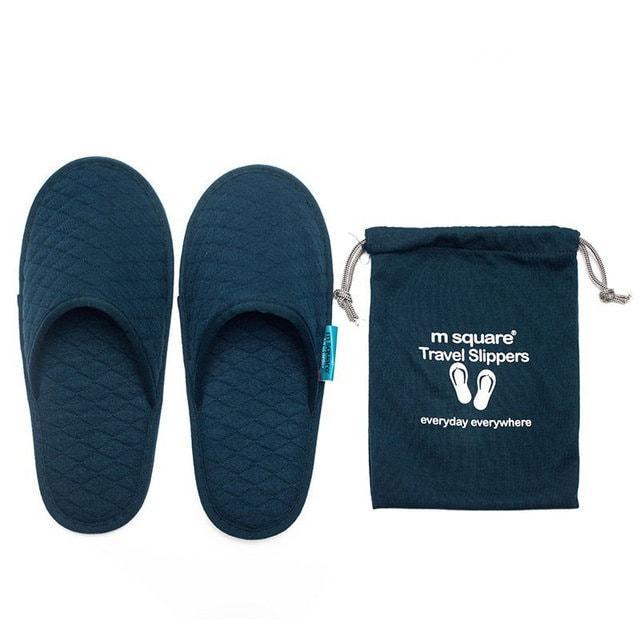 Тапочки для путешествующих темно-синие
