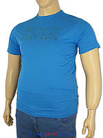 Футболка мужская Boss 501D-320 синего цвета с принтом