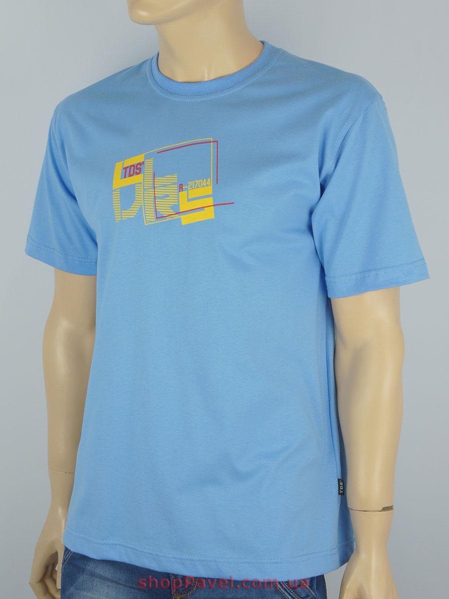 Футболка мужская TDS0230 синяя 100% хлопок