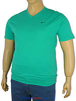 Футболка мужская Найк 4364зеленая больших размеров