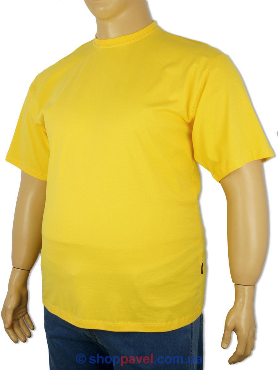 Футболка мужская Laperon PRN-4110 B  желтая больших размеров 100% хлопок