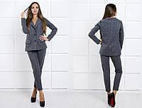 Женский брючный костюм-хит продаж : жакет свободного кроя и укорочненые брюки (+ большие размеры)