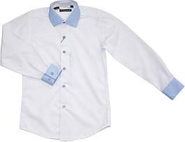 Рубашка школьная на мальчика белая ТМ Lagard Kids размер 122 128 146 152 158