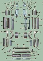 Ремонтна рем. вставка кузова Газель,ГАЗ-3302, 2705, 3221, Фермер, ГАЗ-32023, Соболь, ГАЗ-2217, 2752