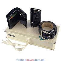 Подарочный набор Canpellini 02165 ремень, кошелек, ключница