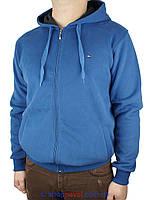 Синяя мужская толстовка Tommy Hilfiger 0460 на молнии