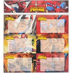 """Наклейки для тетрадей """"Человек паук"""""""