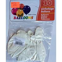 Воздушные шары 986 америка белые 10шт/уп 2,8г диаметр30см (4141-1) уп12