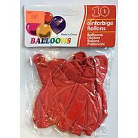 Воздушные шары 991 америка красные 10шт/уп 2,8г диаметр30см (12001-12) уп12