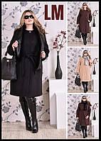 54, 56, 58, 60 Коричневое,черное,беж красивое женское пальто Милана батал,большой размер осеннее