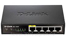 Коммутатор D-Link DES-1005P 5port 10/100BaseTX (1port PoE)