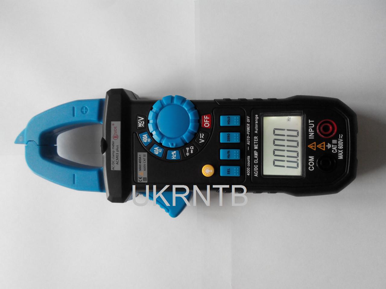 Струмові кліщі / Струмовимірювальні кліщі (постійний струм, ліхтарик, NCV) 0,01-400 А