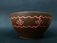 Керамическая пиала 1000 матовая коричневая этно в ас
