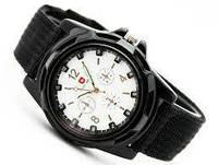 Мужские часы Swiss Army (Черные с белым)