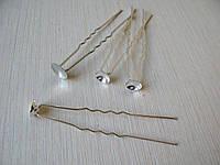 Шпилька с основой для декора  Длина 6,5 см Диаметр основы 0.8 см Цена 3 грн