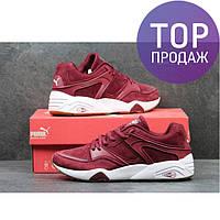 Мужские кроссовки Puma Trinomic, замша, красные / кроссовки для бега мужские Пума Триномик, удобные