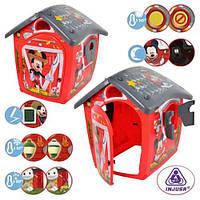Ігровий будинок для дітей Injusa 20340 дитячий, пластик, проявляються малюнки, червоно-сірий, кор.,
